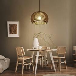 Lampa drewniana wisząca E27 PZE-901 33cm