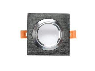 Oprawa halogenowa led sufitowa ruchoma  czarna aluminium